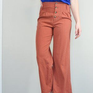Blue Rain High Waist Crop Pants Sz M